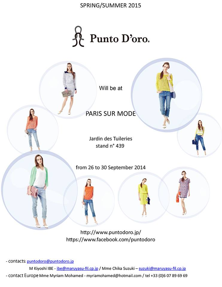 Punto D'oro.  in Paris & Moscow   for Spring / Summer 2015 !!