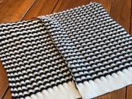 """リブ編みニットにドロップ編みを用いると、こんな効果がえられますよ"""""""